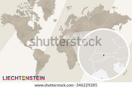 Zoom On Liechtenstein Map Flag World Stock Illustration 346229285