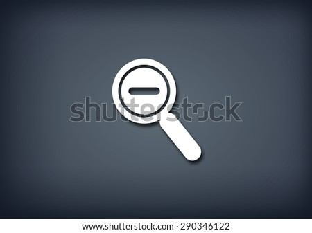 Zoom out icon - stock photo