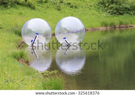 Zorbing Balls - stock photo