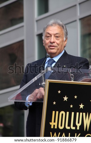 Zubin Mehta at the Zubin Mehta Star on the Hollywood Walk of Fame, Hollywood, CA. 03-01-11