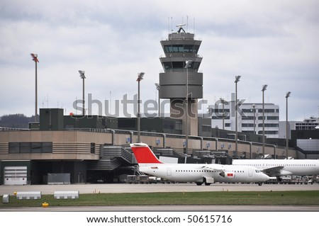 Zurich airport - stock photo
