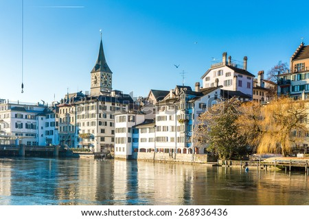 Zurich in Switzerland, Europe - stock photo