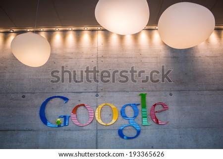 ZURICH, SWITZERLAND - MARCH  14, 2014: Google Corporation Reception - stock photo