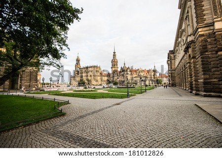 Zwinger in Dresden, Germany - stock photo