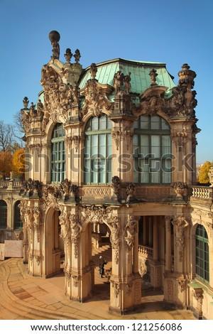 Zwinger Museum in Dresden, Germany - stock photo