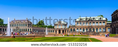 Zwinger Park, palace in Dresden, eastern Germany, built in Rococo style - stock photo