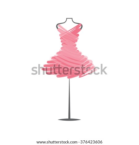 a  dress rose mannequin illustration
