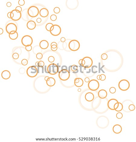 Abstract background of colored rings. Vector graphics