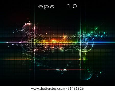 abstract background studio - stock vector