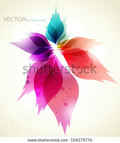 Abstract background with Colorful elements - stock vector