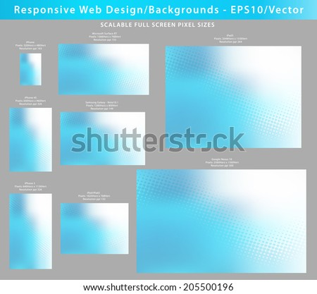 Abstract Backgrounds for electronic devices in Scalable EPS10 Pixel Sizes with plenty of copy space - stock vector