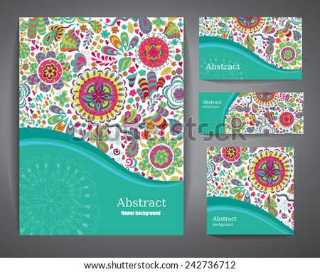 Abstract Backgrounds with flowers for Business, Flyers and Posters.  - stock vector