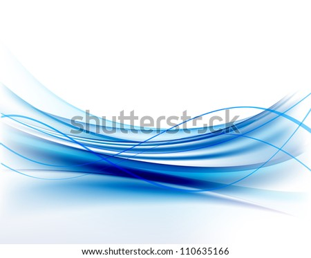 Abstract blue wave background - stock vector