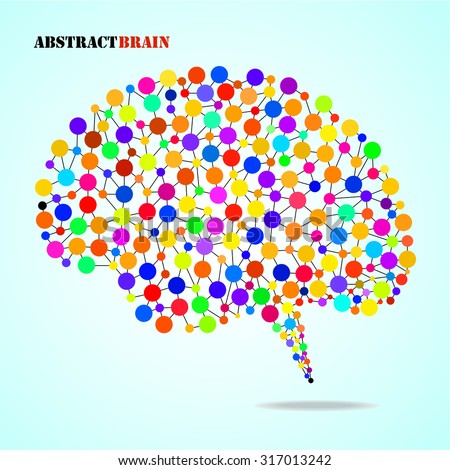 Abstract colorful brain human. Vector illustration. Eps 10
