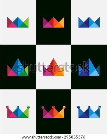 abstract crown with triangles