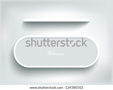 Abstract 3d decoration shelf on white wall - stock vector