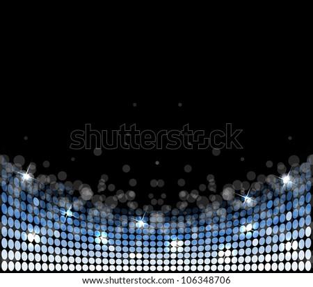 abstract disco light stars vector background - stock vector
