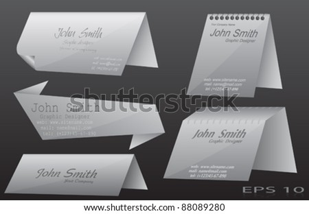 Abstract Grey Vector Banners - stock vector