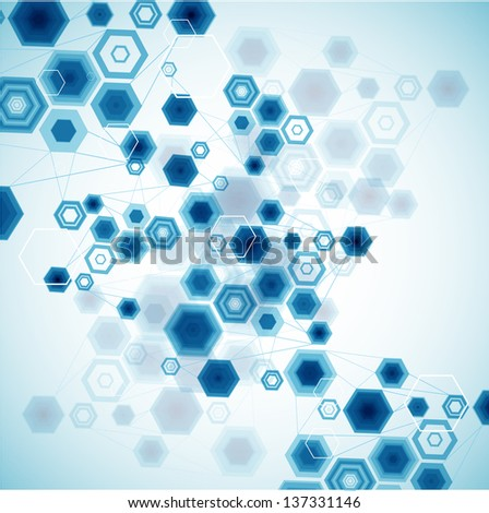 Abstract Hexagonal Background. Vector - stock vector