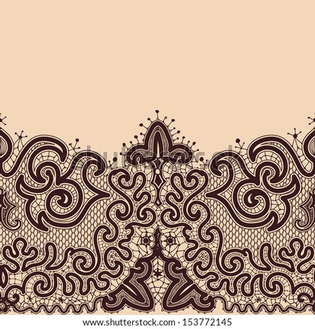 Abstract Lace Ribbon Seamless Pattern Template Stock Vector ...