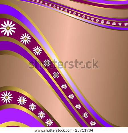 Abstract lilas  floral frame with  place for the text (vector) - stock vector