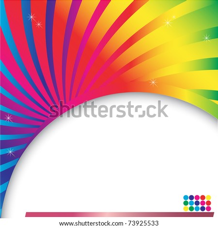 Abstract multicolored background with place for text. vector. - stock vector