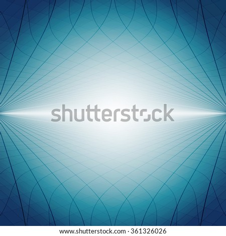 Abstract perspective background with dark blue tones - stock vector