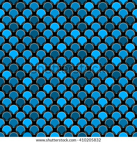 Abstract seamless pattern with colored circles.  3d effect. Vector eps10 pattern suitable for fabric, wallpaper, web. - stock vector