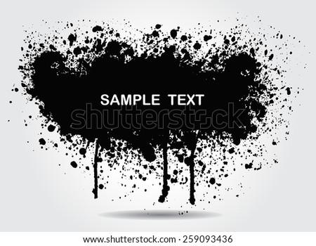 .Abstract splash banner for design use.Vector illustration. - stock vector