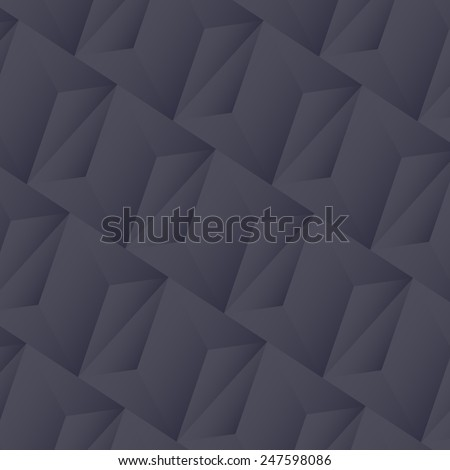 abstract tech geometric black background - stock vector