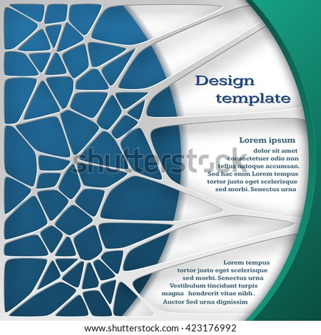 Abstract  white network background.  Abstract 3D Paper Graphics design template for your business presentation. Vector illustration.