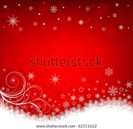 Abstract winter background vector - stock vector