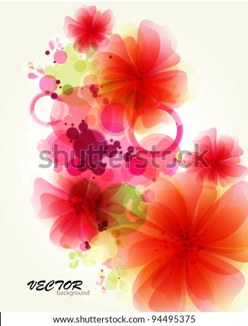 Abstraction flower background - stock vector