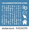 100 administration icons, vector - stock vector