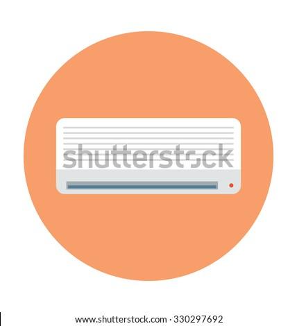 Air Conditioner Colored Vector Icon  - stock vector