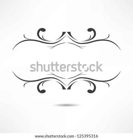 ??alligraphic design element - stock vector