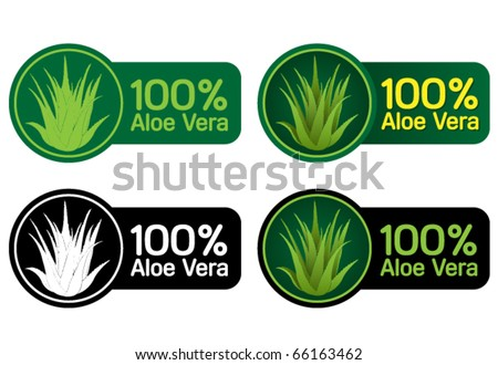100 aloe vera seals stickers