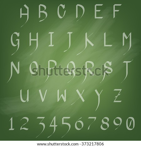 Alphabet Set A - Z and Numbers 0 - 9