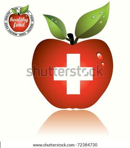 An apple a day Note to editor: 	 - stock vector