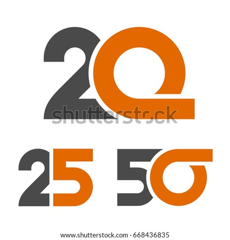 20 25 50 Anniversary Number Vector Stock Photo Photo Vector