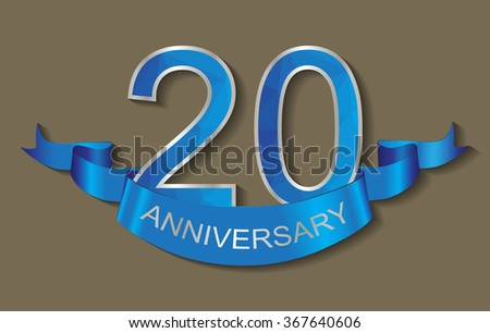 20 anniversary template design.20 years anniversary.Vector illustration.