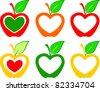 Apple set. Vector - stock