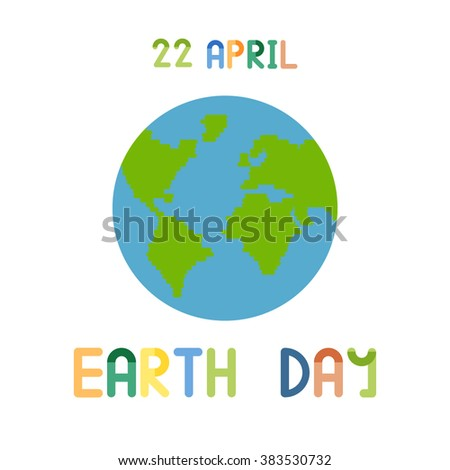 22 april. Earth Day vector illustration - stock vector