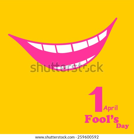 1 april. Fools Day. Vector illustration - stock vector