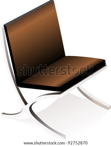 armchair isolated on white background - stock vector