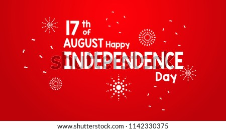 17 August 2018 special 73 Years Happy Independence Indonesia Flag Red and White
