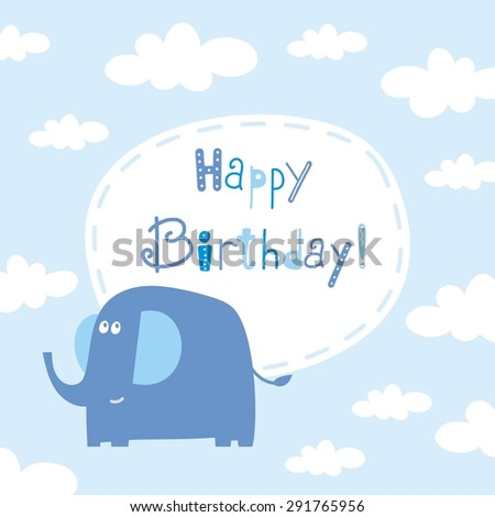 baby birthday card - stock vector