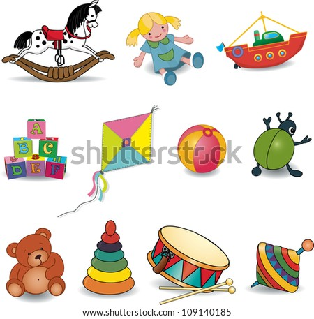 Baby's toys.Vector illustration