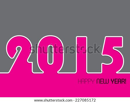 2015 background design with happy new year text - stock vector
