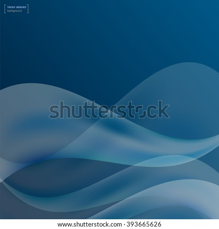 Background of blue waves. Colorful vector abstract 3d texture . Wavy wallpaper for decor and design.  - stock vector